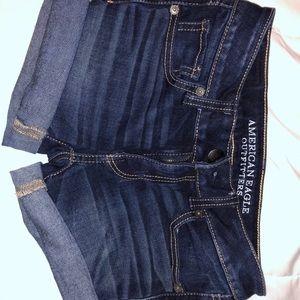 Dark wash size 00 American eagle jean short